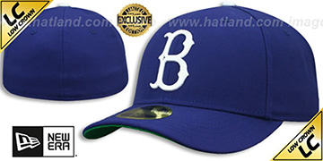 Dodgers 'LOW-CROWN 1939-57 COOPERSTOWN' Fitted Hat by New Era