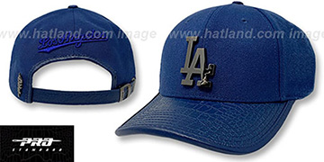 Dodgers LOW-PRO BLACK METAL BADGE STRAPBACK Royal Hat by Pro Standard