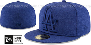 Dodgers 'MEGATONE' Royal Shadow Tech Fitted Hat by New Era