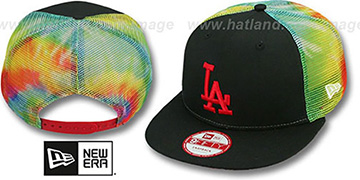 Dodgers MESH TYE-DYE SNAPBACK Hat by New Era