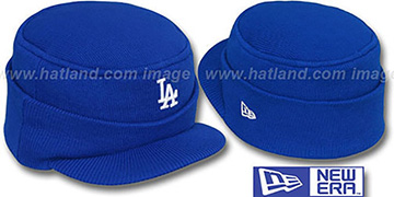 Dodgers 'MINI-BRIM RILEY' Royal Knit Hat by New Era