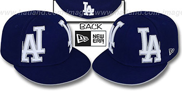 Dodgers MIRROR PANELCUT Royal Fitted Hat by New Era