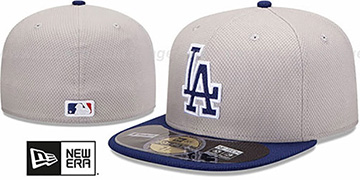 Dodgers 'MLB DIAMOND ERA' 59FIFTY Grey-Royal BP Hat by New Era