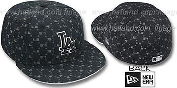 Dodgers 'MLB FLOCKING' Black Fitted Hat by New Era