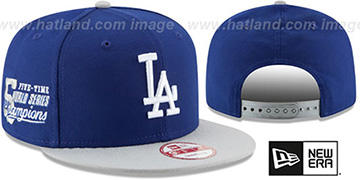 Dodgers MLB STAR-TRIM SNAPBACK Royal-Grey Hat by New Era