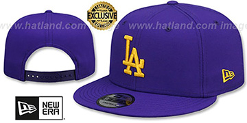 Dodgers OPPOSITE-TEAM SNAPBACK Purple Hat by New Era