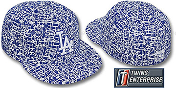 Dodgers 'PAINT SPLATTER' Fitted Hat by Twins