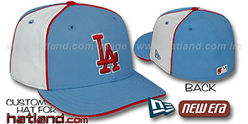 Dodgers 'PINWHEEL-2' Columbia-White Fitted Hat