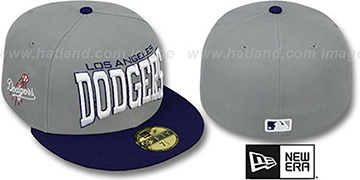 Dodgers 'PRO-ARCH' Grey-Royal Fitted Hat by New Era