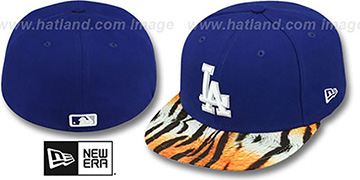 Dodgers REAL TIGER VIZA-PRINT Royal Fitted Hat by New Era