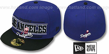 Dodgers RETRO-SMOOTH Royal-Black Fitted Hat by New Era