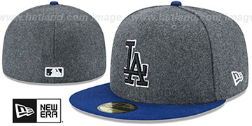 Dodgers 'SHADER MELTON' Grey-Royal Fitted Hat by New Era