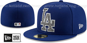 Dodgers SHIMMER-XL Royal Fitted Hat by New Era