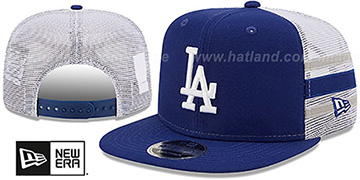 Dodgers SIDE-STRIPE TRUCKER SNAPBACK Royal Hat by New Era