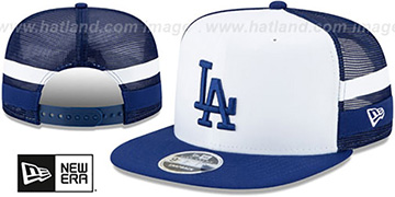 Dodgers SIDE-STRIPED TRUCKER SNAPBACK Hat by New Era