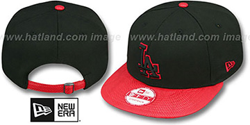 Dodgers 'SNAKE-THRU STRAPBACK' Black-Red Adjustable Hat by New Era