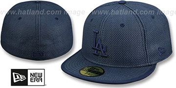 Dodgers SOLID WEAVE Navy Fitted Hat by New Era