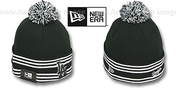 Dodgers SPORT-KNIT Black-Black Beanie Hat by New Era