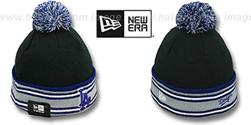 Dodgers 'SPORT-KNIT' Black-Royal Beanie Hat by New Era