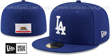Dodgers 'STATE STARE' Royal Fitted Hat by New Era