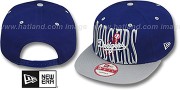 Dodgers 'STEP-ABOVE SNAPBACK' Royal-Grey Hat by New Era