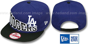 Dodgers 'STOKED SNAPBACK' Royal-Black Hat by New Era