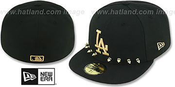 Dodgers 'STUD-POP' Black Fitted Hat by New Era
