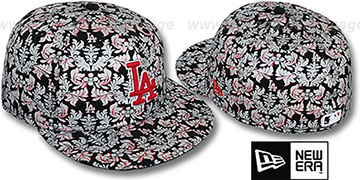 Dodgers 'TAPESTRY FOIL' Black Fitted Hat by New Era