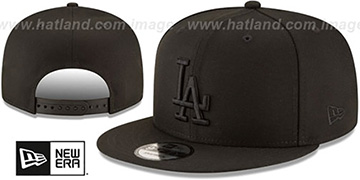 Dodgers TEAM-BASIC BLACKOUT SNAPBACK Hat by New Era
