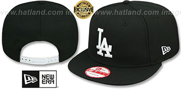Dodgers 'TEAM-BASIC SNAPBACK' Black-White Hat by New Era