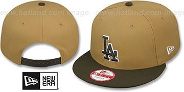 Dodgers 'TEAM-BASIC SNAPBACK' Wheat-Brown Hat by New Era