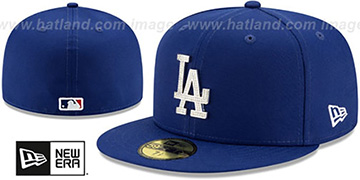 Dodgers 'TEAM-GEM' Royal Fitted Hat by New Era