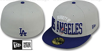 Dodgers TEAM-PRIDE Grey-Royal Fitted Hat by New Era