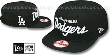 Dodgers 'TEAM-SCRIPT SOCAL SNAPBACK' Black Hat by New Era