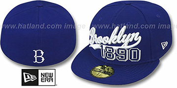 Dodgers THE BEGINNING COOP Royal Fitted Hat by New Era