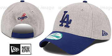 Dodgers 'THE-LEAGUE HEATHER STRAPBACK' Grey-Royal Hat by New Era