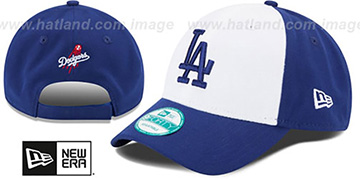 Dodgers 'THE-LEAGUE STRAPBACK' White-Royal Hat by New Era