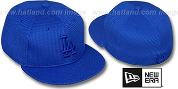 Dodgers THERMAL ROYALOUT Fitted Hat by New Era