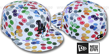 Dodgers TOKENS White-Multi Fitted Hat by New Era