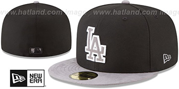 Dodgers TONAL-CHOICE Black Fitted Hat by New Era