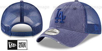 Dodgers TONAL-WASHED TRUCKER SNAPBACK Royal Hat by New Era