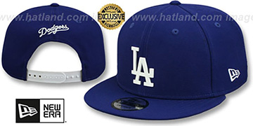 Dodgers 'WHITE METAL-BADGE' SNAPBACK Royal Hat by New Era