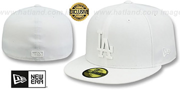 Dodgers WHITE METAL-BADGE White Fitted Hat by New Era