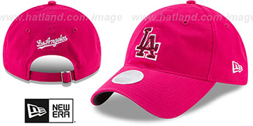 Dodgers WOMENS MOTHERS DAY GLIMMER STRAPBACK Pink Hat by New Era