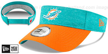 Dolphins 18 NFL STADIUM Aqua-Orange Visor by New Era