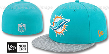 Dolphins '2014 NFL DRAFT' Aqua Fitted Hat by New Era