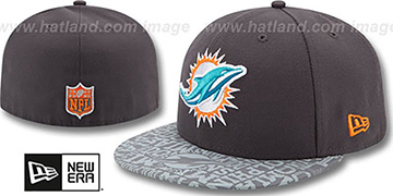 Dolphins '2014 NFL DRAFT' Grey Fitted Hat by New Era