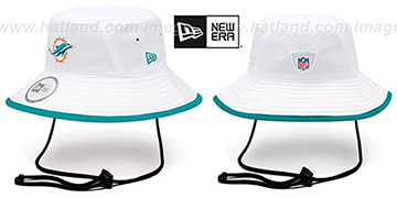 Dolphins '2014 NFL TRAINING BUCKET' White Hat by New Era