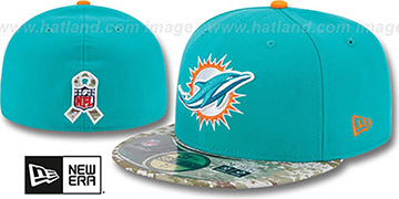 Dolphins 2014 SALUTE-TO-SERVICE Aqua-Desert Fitted Hat by New Era