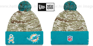 Dolphins 2015 SALUTE-TO-SERVICE Knit Beanie Hat by New Era
